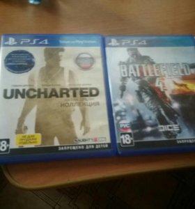 Диски ps4 uncharted все части и battlefield 4