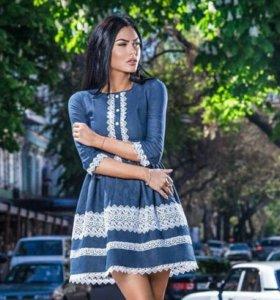 Новое платье джинсовая ткань