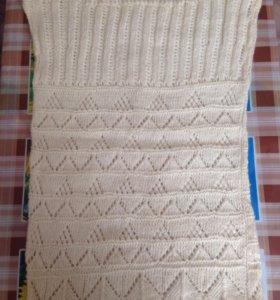 Шерстяная жилетка-туника