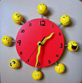 """Часы настенные детские """"Смайлики"""""""