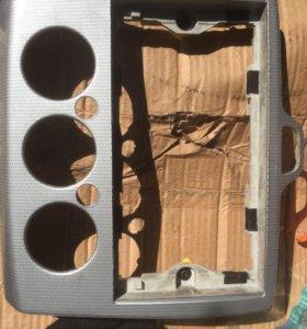 Рамка магнитолы форд фокус 2 карбон