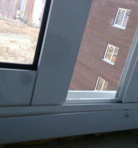 !!! Балконная рама алюм 2500х1500 с новостройки