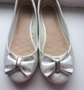 Балетки туфли белые