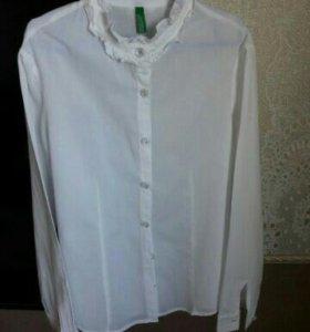 Benetton рубашка для девочки новая