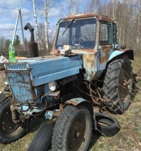 Трактор мтз 80на ходу с документами