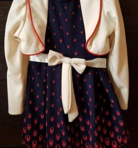 Платье с болеро 92р