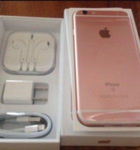Айфон 6 S Розовое золото новый