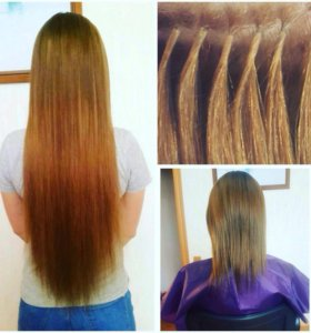 Наращивание волос коррекция снятие окрашивание