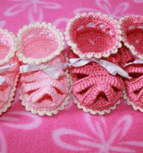 Пинетки-сандалики для девочки