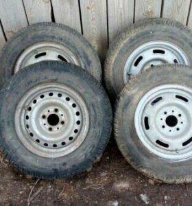 Зимние колеса р13 на штампах