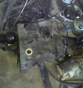 Двигатель и коробка  фольцваген гольф