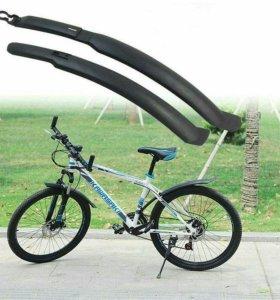 Новый комплект подкрылков на велосипед.