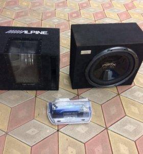Продаю 2 буфера poldx 1300w Alpine 800w + накопи