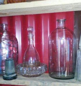 Графины вазочки бутыли СССР