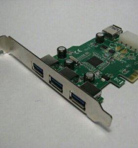 Контроллер Espada PCI-E to USB3.0 FG-EU309A-1-BU01
