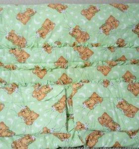 Бортики в кроватку+ одеяло