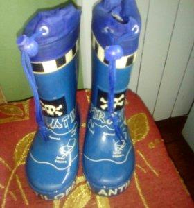 Резиновые сапожки антилопа 24р