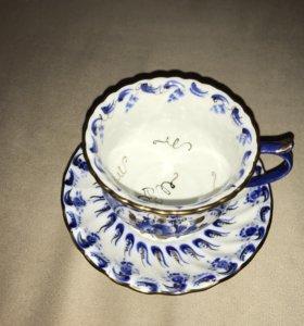 Чашка и блюдце очень красивые