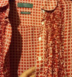 Шёлковая рубашка Alexander McQueen
