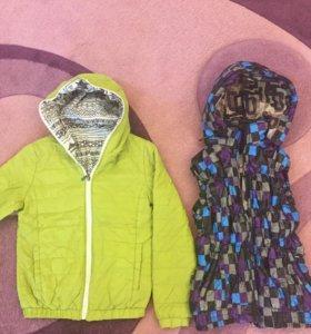 Куртка и жилет, размер 40-42