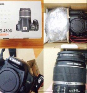 Зеркальный фотоаппарат Canon EOS 450D Kit 18-55mm
