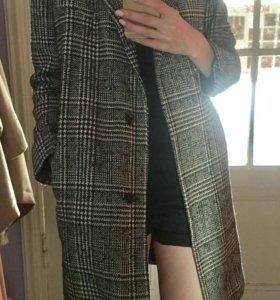 Клетчатое пальто Topshop