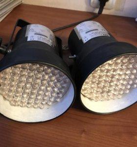 Цветомузыка INVOLIGHT LED Par36/BK 2 шт