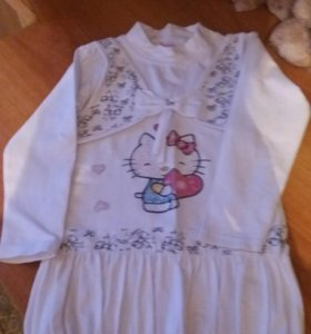 Платье-туника для девочки.