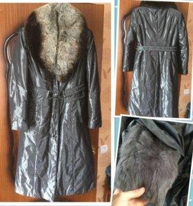 Пальто зимнее на кролике 48 р