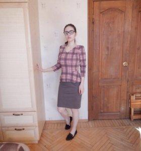 Платье с баской (неношенное)