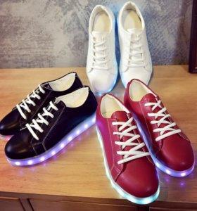 Кроссовки обувь LED USB