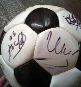 Автографы сборной России по футболу 2012 года