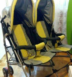 Детская коляска трость для двоих детей