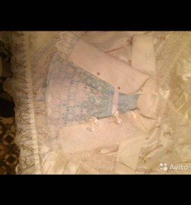 Платье,кардиган пинетки новые