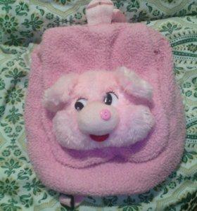 Портфель свинка.