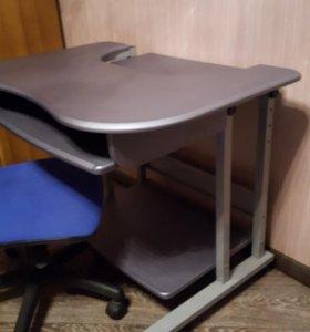 Комплект компьютерный стол+этажерка+стул