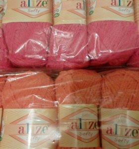 Пряжа alize softy 250 р упаковка