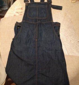 Сарафан для беременных джинсовый