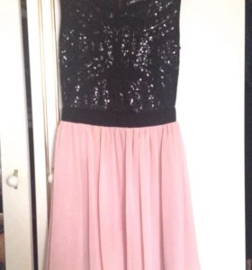 Черно розовое платье
