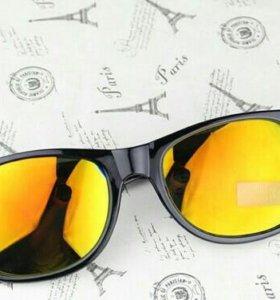 Очки солнечные,зеркальные
