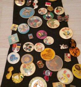 Коллекция старых значков