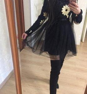 Платье с пачкой