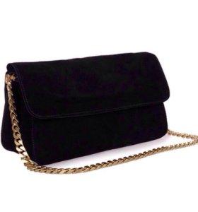 чёрная замшевая сумка Celine