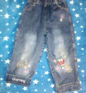 Утепленые джинсы 3-5 лет