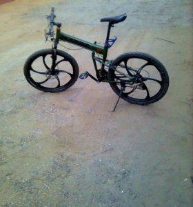 Стильный,складной велосипед Хаммер на литье