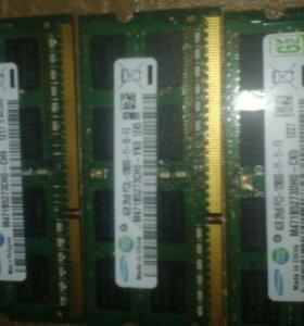 Оперативка на ноутбук DDR3 2 планки по 4 Gb