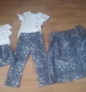 Одинаковая одежда мама +дочь +сын
