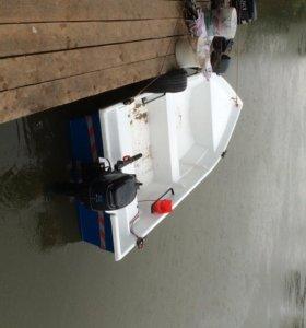комплект лодка мотор прицеп