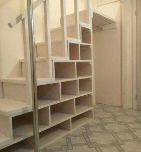 Лестница-полки или лестница шкаф