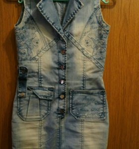 Новый джинсовый сарафан Xs